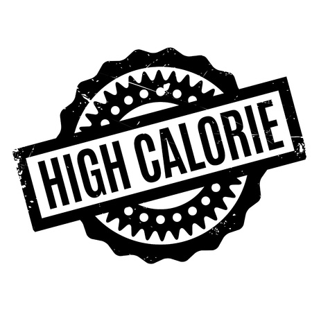 High Calorie rubber stamp  イラスト・ベクター素材