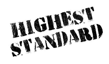 notable: Highest Standard rubber stamp Illustration
