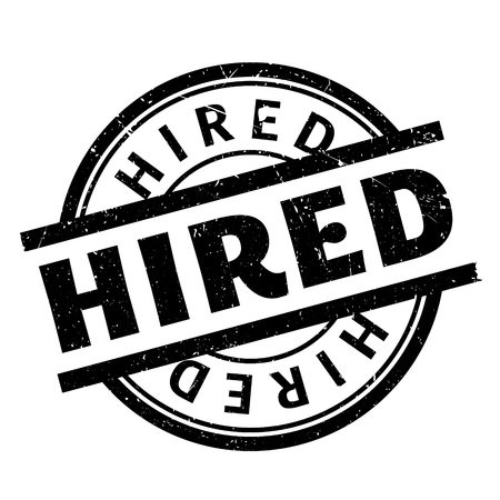 hired: Hired rubber stamp