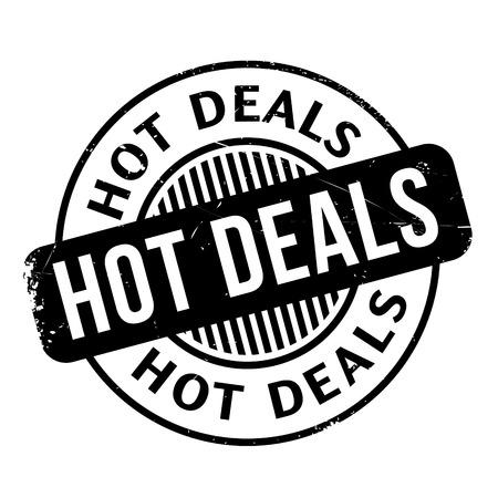 deals: Hot Deals rubber stamp