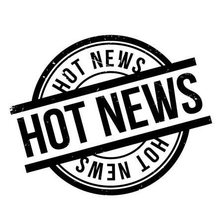 Hot News rubber stamp