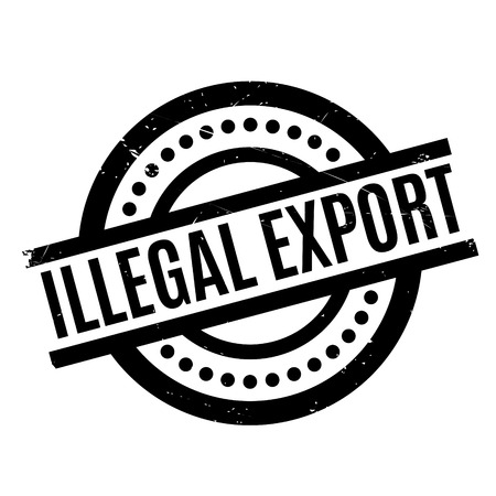 Illegal Export rubber stamp