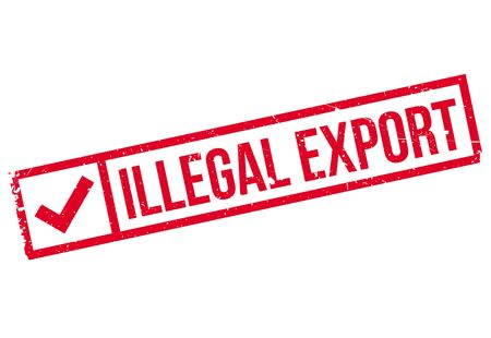consignment: Illegal Export rubber stamp