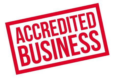 accredited: Accredited Business rubber stamp