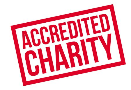 Accredited Charity rubber stamp