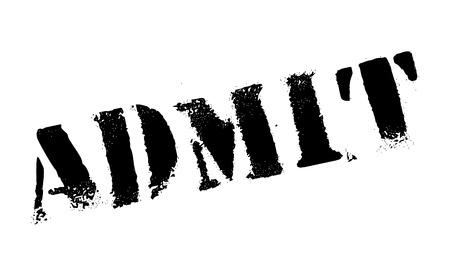 concede: Admit rubber stamp Illustration