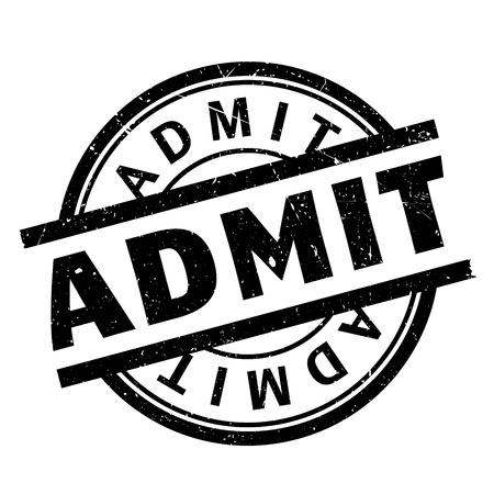admit: Admit rubber stamp Illustration