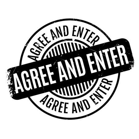 concede: Agree And Enter rubber stamp