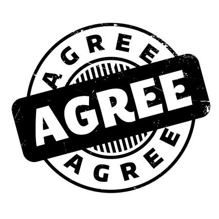 agree: Agree rubber stamp Illustration