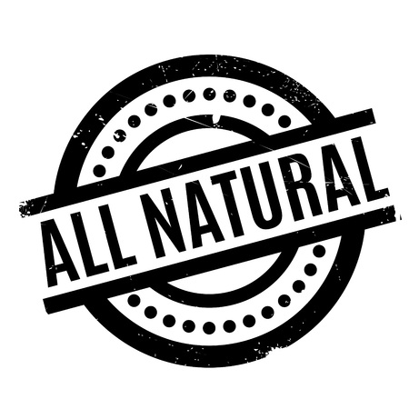 dietary: All Natural rubber stamp Illustration