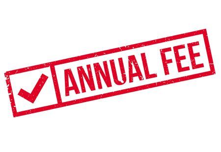 honorarium: Annual Fee rubber stamp