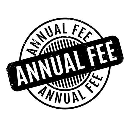 Annual Fee rubber stamp