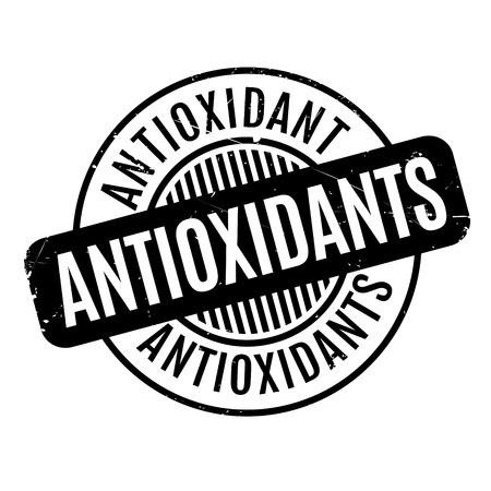 antioxidants: Antioxidants rubber stamp Illustration