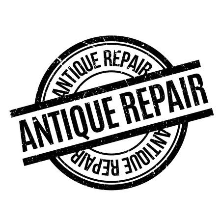 Sello de goma de la reparación antigua Ilustración de vector