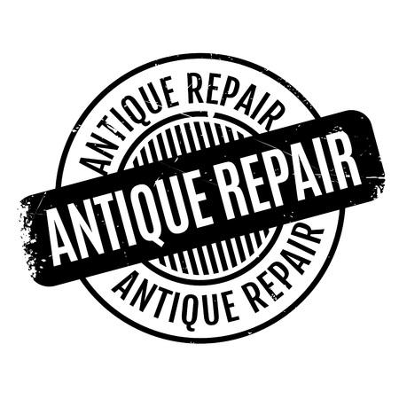 superannuated: Antique Repair rubber stamp Illustration