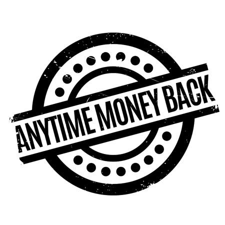 signo de pesos: En cualquier momento del sello de goma de devolución de dinero
