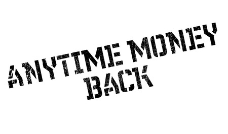 specie: Anytime Money Back rubber stamp