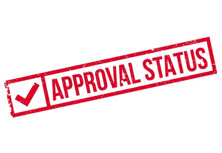Approval Status rubberstamp Illustration