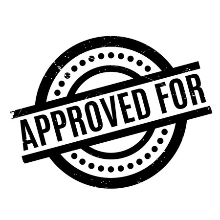 recognized: Approved For rubber stamp Illustration