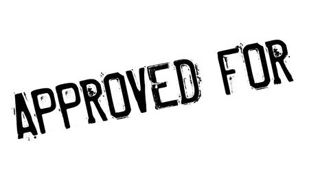 approved: Approved For rubber stamp Illustration