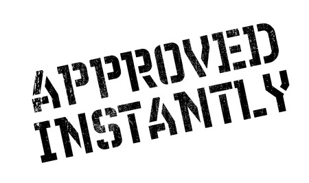 recognized: Approved Instantly rubber stamp Illustration
