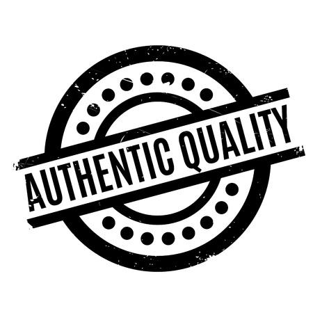 authoritative: Authentic Quality rubber stamp Illustration