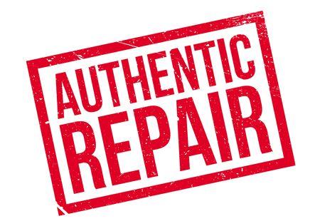 sello de goma auténtica reparación Ilustración de vector