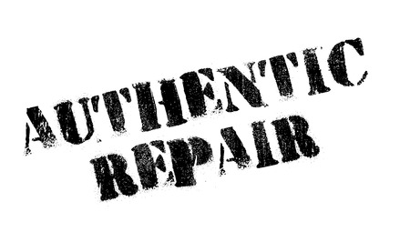 dependable: Authentic Repair rubber stamp Illustration