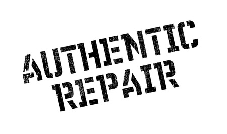legitimate: Authentic Repair rubber stamp Illustration