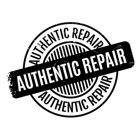authoritative: Authentic Repair rubber stamp Illustration