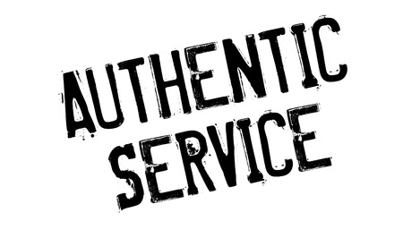 Authentic Service rubber stamp
