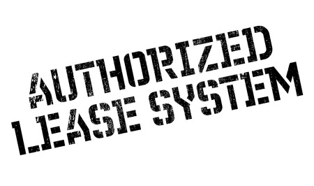 authoritative: Authorized Lease System rubber stamp