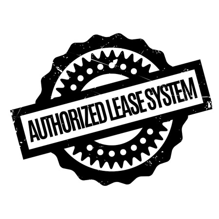 authorized: Authorized Lease System rubber stamp
