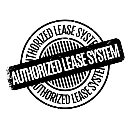lease: Authorized Lease System rubber stamp
