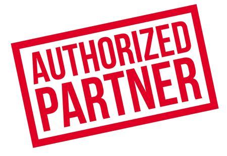 authorized: Authorized Partner rubber stamp