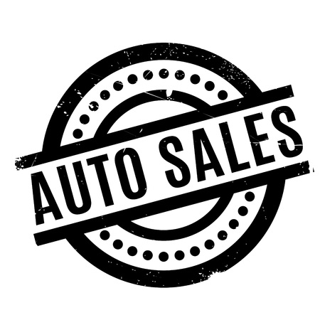 Auto Sales rubber stamp