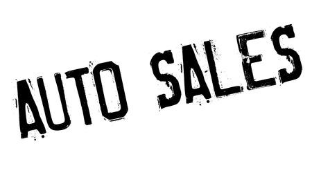 auto sales: Auto Sales rubber stamp