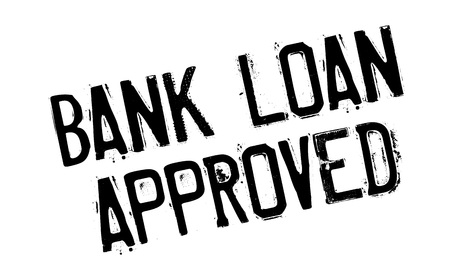 Bank Loan Approved rubber stamp
