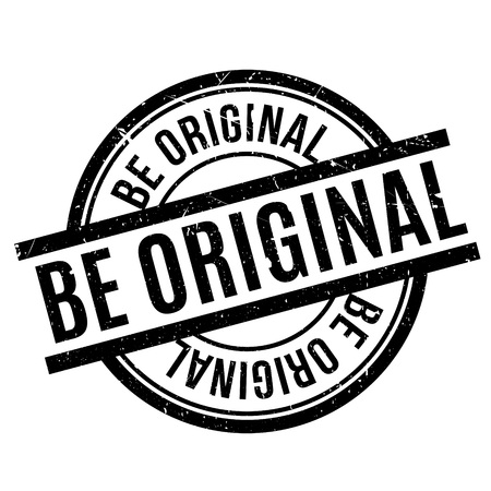originative: Be Original rubber stamp