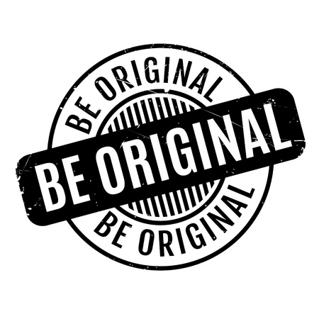 exemplar: Be Original rubber stamp