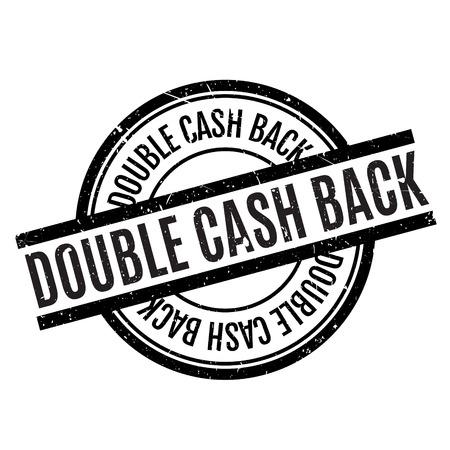 Doble sello de goma de Cashback Foto de archivo - 68303615