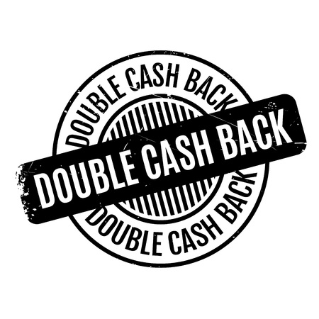 Doble sello de goma de Cashback Foto de archivo - 68275469