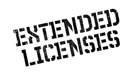 Extended Licenses rubber stamp