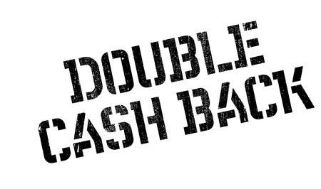 Doble sello de goma de Cashback