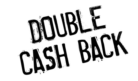Doble sello de goma de Cashback Ilustración de vector