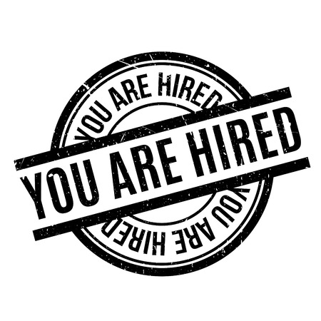 the daily grind: You Are Hired rubber stamp Illustration