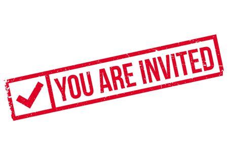 You Are Invited rubber stamp Illusztráció