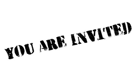 you are invited: You Are Invited rubber stamp Illustration