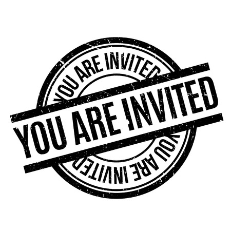 provoke: You Are Invited rubber stamp Illustration
