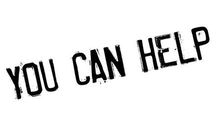 tu puedes: Usted puede ayudar sello de goma